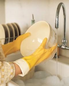 rinse plates