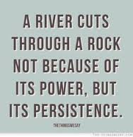 persistence river cuts through