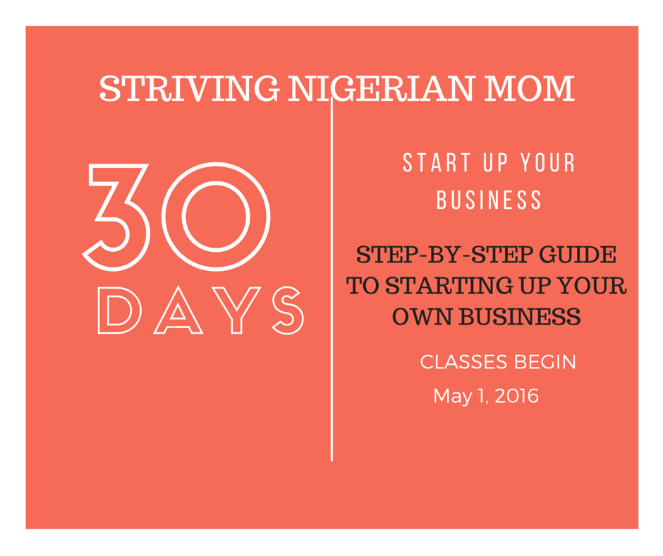 SIGN UP FOR OUR 30 DAY COURSE ON STARTING UP YOUR OWN BUSINESS FROM HOME